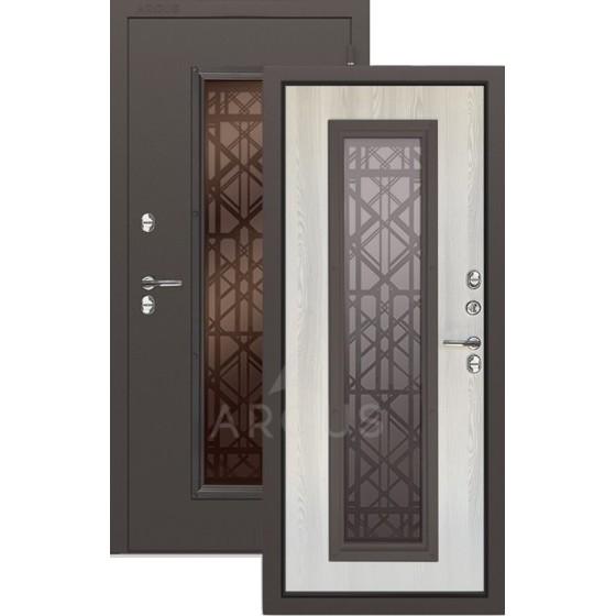Входная уличная дверь «АРГУС»: с терморазрывом «Тепло Бриан Кортен Муар»