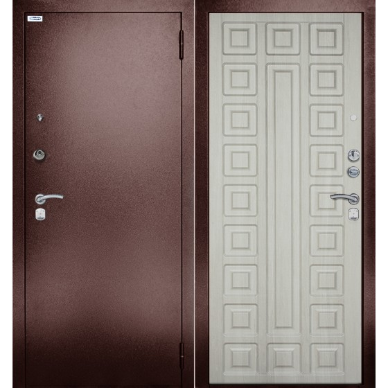 Сейф-дверь 3К Сенатор Ларче. Дверь входная фабрики «БЕРЛОГА»