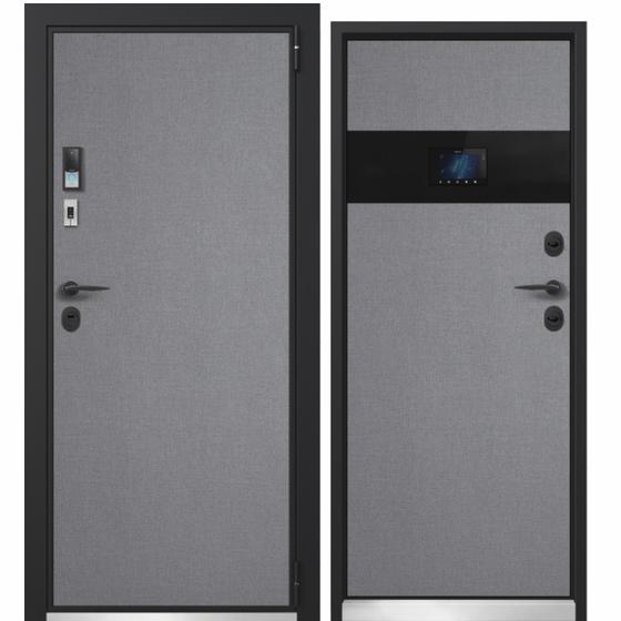 Дверь входная электронная Electra Smartphone (лен маренго, лен маренго). Фабрика «PORTALLE»