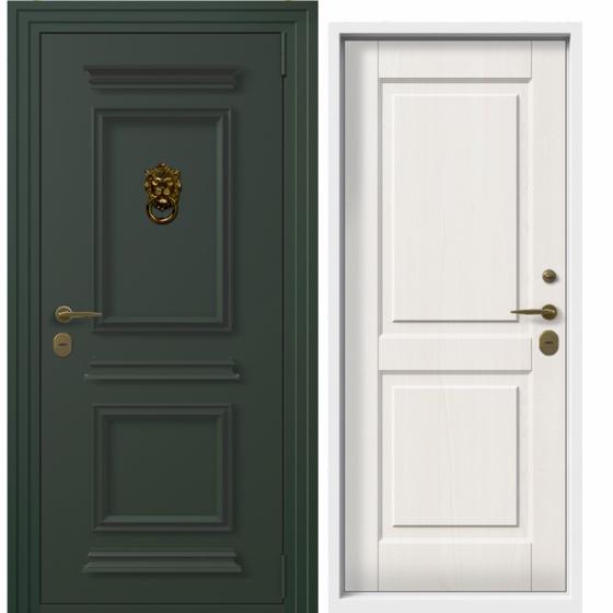 Дверь входная в коттедж Termo Plus (patina, белое дерево). Фабрика «PORTALLE»