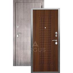 Входная дверь «АРГУС»: «ДА-10» АЛЬМА (2П) ДУБ РУСТИКАЛЬНЫЙ / МДФ КЛОД ГРЕЙ