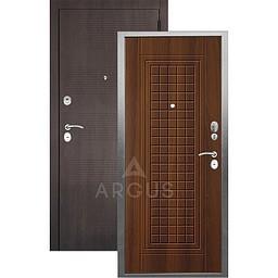 Входная дверь «АРГУС»: «ДА-10» АЛЬМА (2П) ДУБ РУСТИКАЛЬНЫЙ / МДФ КЛОД ШОКОЛАД