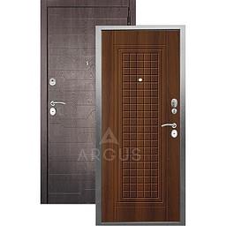 Входная дверь «АРГУС»: «ДА-10» АЛЬМА (2П) ДУБ РУСТИКАЛЬНЫЙ / МДФ КОРТО ШОКОЛАД