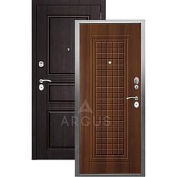 Входная дверь «АРГУС»: «ДА-10» АЛЬМА (2П) ДУБ РУСТИКАЛЬНЫЙ / МДФ САБИНА ВЕНГЕ ТИСНЕНЫЙ