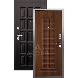 Входная дверь «АРГУС»: «ДА-10» АЛЬМА (2П) ДУБ РУСТИКАЛЬНЫЙ / МДФ ШОКОЛАД ВЕНГЕ ТИСНЕНЫЙ