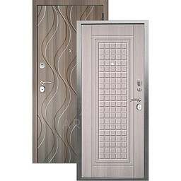 Входная дверь «АРГУС»: «ДА-10» АЛЬМА (2П) ЛАРЧЕ СВЕТЛЫЙ / МДФ АНХЕЛЬ КЕРАМИКА