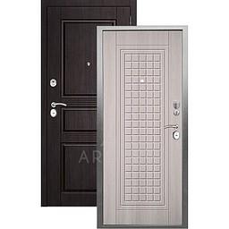 Входная дверь «АРГУС»: «ДА-10» АЛЬМА (2П) ЛАРЧЕ СВЕТЛЫЙ / МДФ САБИНА ВЕНГЕ ТИСНЕНЫЙ