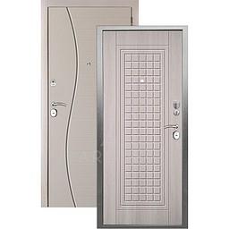 Входная дверь «АРГУС»: «ДА-10» АЛЬМА (2П) ЛАРЧЕ СВЕТЛЫЙ / МДФ СОРОС СИЛК МАКАДАМИЯ
