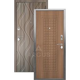 Входная дверь «АРГУС»: «ДА-10» АЛЬМА (2П) ОРЕХ МИЛАНСКИЙ / МДФ АНХЕЛЬ КЕРАМИКА