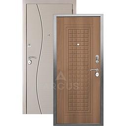 Входная дверь «АРГУС»: «ДА-10» АЛЬМА (2П) ОРЕХ МИЛАНСКИЙ / МДФ СОРОС СИЛК МАКАДАМИЯ