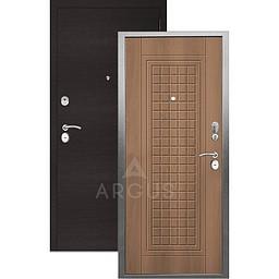 Входная дверь «АРГУС»: «ДА-10» АЛЬМА (2П) ОРЕХ МИЛАНСКИЙ / МДФ ГОРИЗОНТ ВЕНГЕ