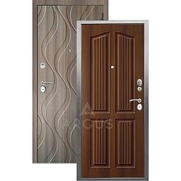 Входная дверь «АРГУС»: «ДА-10» (2П) ЛОНДОН КОНЬЯК / МДФ АНХЕЛЬ КЕРАМИКА