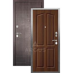 Входная дверь «АРГУС»: «ДА-10» (2П) ЛОНДОН КОНЬЯК / МДФ КОРТО ШОКОЛАД