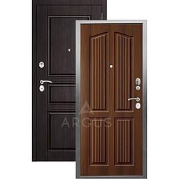 Входная дверь «АРГУС»: «ДА-10» (2П) ЛОНДОН КОНЬЯК / МДФ САБИНА ВЕНГЕ ТИСНЕНЫЙ