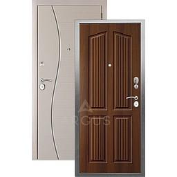 Входная дверь «АРГУС»: «ДА-10» (2П) ЛОНДОН КОНЬЯК / МДФ СОРОС СИЛК МАКАДАМИЯ