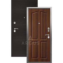Входная дверь «АРГУС»: «ДА-10» (2П) ЛОНДОН КОНЬЯК / МДФ ГОРИЗОНТ ВЕНГЕ