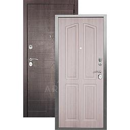 Входная дверь «АРГУС»: «ДА-10» (2П) ЛОНДОН ЛАРЧЕ / МДФ КОРТО ШОКОЛАД