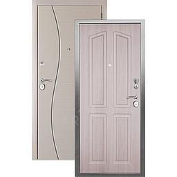 Входная дверь «АРГУС»: «ДА-10» (2П) ЛОНДОН ЛАРЧЕ / МДФ СОРОС СИЛК МАКАДАМИЯ