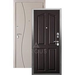 Входная дверь «АРГУС»: «ДА-10» (2П) ЛОНДОН ВЕНГЕ / МДФ СОРОС СИЛК МАКАДАМИЯ