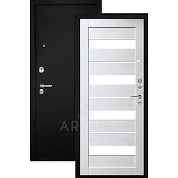 Входная дверь «АРГУС»: «ДА-87/1» МИЛАНА ЛИСТВЕННИЦА ЛАКОБЕЛЬ БЕЛЫЙ