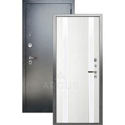 Входная дверь «АРГУС»: ДА-105 ДУЭТ БЕЛОЕ ДЕРЕВО ИЗАБЕЛЬ / АНТИК СЕРЕБРО