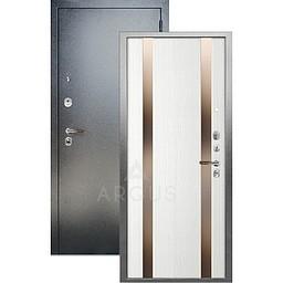 Входная дверь «АРГУС»: ДА-105 ДУЭТ БЕЛОЕ ДЕРЕВО ИДЕН / АНТИК СЕРЕБРО