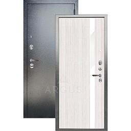 Входная дверь «АРГУС»: ДА-105 СОЛО БЕЛЫЙ ЯСЕНЬ ИЗАБЕЛЬ / АНТИК СЕРЕБРО