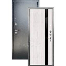 Входная дверь «АРГУС»: ДА-105 СОЛО БЕЛЫЙ ЯСЕНЬ КЕНЗО / АНТИК СЕРЕБРО