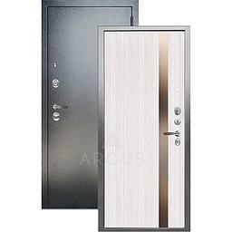 Входная дверь «АРГУС»: ДА-105 СОЛО БЕЛЫЙ ЯСЕНЬ ИДЕН / АНТИК СЕРЕБРО