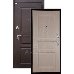 Входная дверь «АРГУС»: «ДА-72» ДУБ БЕЛЕНЫЙ / МДФ САБИНА ВЕНГЕ