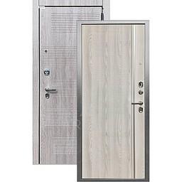 Входная дверь «АРГУС»: «ДА-65» МУЛЬСАН (2П) ясень РИВЬЕРА АЙС / МДФ НИКСОН ГРЕЙ
