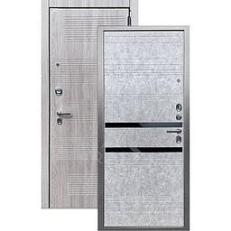 Входная дверь «АРГУС»: «ДА-65» ЮВЕНТУС штукатурка светлая (2П) / МДФ Клод грей / Кензо