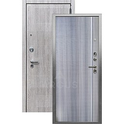 Входная дверь «АРГУС»: «ДА-65» МУЛЬСАН (2П) КЕРАМИКА / МДФ НИКСОН ГРЕЙ