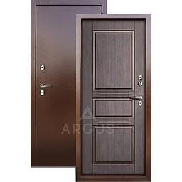 Входная уличная дверь «АРГУС»: с терморазрывом «ТЕПЛО-5» венге