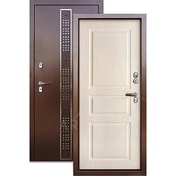 Входная уличная дверь «АРГУС»: с терморазрывом «ТЕПЛО-5» Бином коричневый дуб беленый