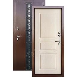 Входная уличная дверь «АРГУС»: с терморазрывом «ТЕПЛО-5» Проксима дуб беленый