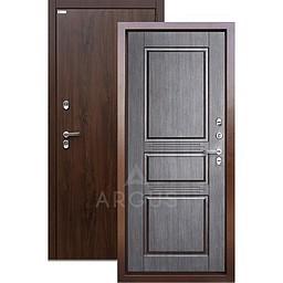 Входная уличная дверь «АРГУС»: с терморазрывом «ТЕПЛО-5» (2П) венге / МДФ Дуб темный