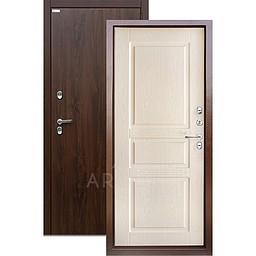 Входная уличная дверь «АРГУС»: с терморазрывом «ТЕПЛО-5» (2П) дуб беленый