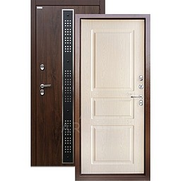 Входная уличная дверь «АРГУС»: с терморазрывом «ТЕПЛО-5» (2П) бином дуб беленый
