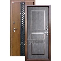 Входная уличная дверь «АРГУС»: с терморазрывом «ТЕПЛО-5» (2П) проксима венге