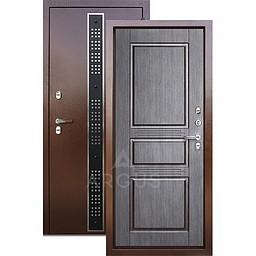 Входная уличная дверь «АРГУС»: с терморазрывом «ТЕПЛО-5» Бином черный Венге