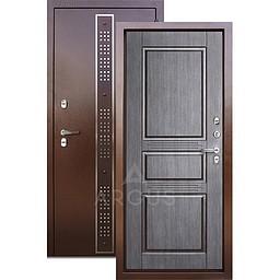 Входная уличная дверь «АРГУС»: с терморазрывом «ТЕПЛО-5» Бином коричневый Венге