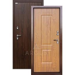 Входная уличная дверь «АРГУС»: с терморазрывом «ТЕПЛО-1» (2П) ДУБ ТЁМНЫЙ