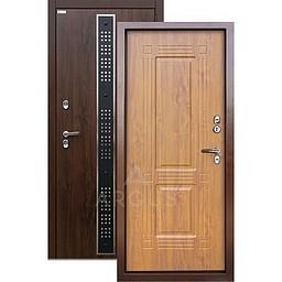 Входная уличная дверь «АРГУС»: с терморазрывом «ТЕПЛО-1» (2П) БИНОМ ДУБ ТЁМНЫЙ