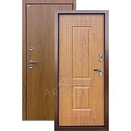 Входная уличная дверь «АРГУС»: с терморазрывом «ТЕПЛО-1» (2П) ДУБ ЯНТАРНЫЙ