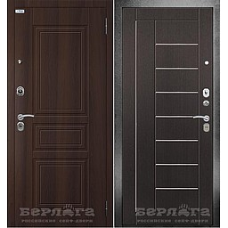 Сейф-дверь 3К Фриза Венге. Дверь входная фабрики «БЕРЛОГА»