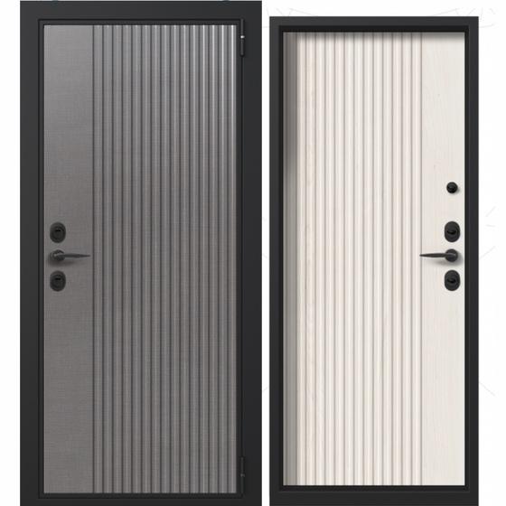 Дверь входная в квартиру Shweda (дымчатое дерево, белое дерево). Фабрика «PORTALLE»