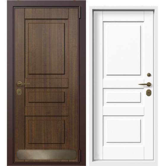 Дверь входная в коттедж Termo Wood (тик, ral 9003-сигнальный белый). Фабрика «PORTALLE»