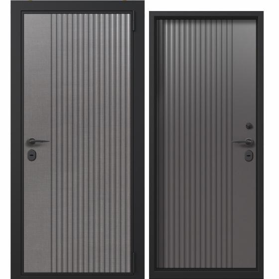 Дверь входная в коттедж Termo Wood (дымчатое дерево, grey matt). Фабрика «PORTALLE»
